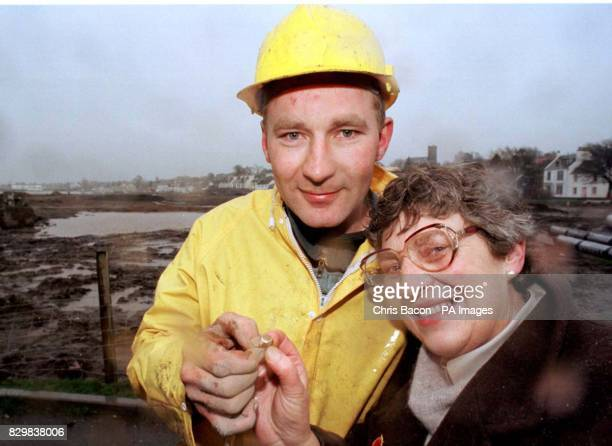 Doreen Johnston reunited with her gold signet ring after 22 years The ring was found by her son Robert on a building site in Stranraer which use to...