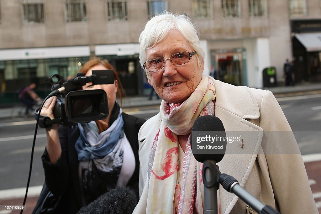Doreen Jones, who lost her son Richard joins other families of the 96 football fans who lost their lives in the Hillsborough disaster at the Family Division of the High Court on April 25, 2013 in London, England. A hearing to decide the date and location of a new inquest into the 96 people who died in the Hillsborough disaster has begun in London. The Hillsborough disaster occurred during the FA Cup semi-final tie between Liverpool and Nottingham Forest football clubs in April 1989 at the Hillsborough Stadium in Sheffield, which resulted in the deaths of 96 football fans.