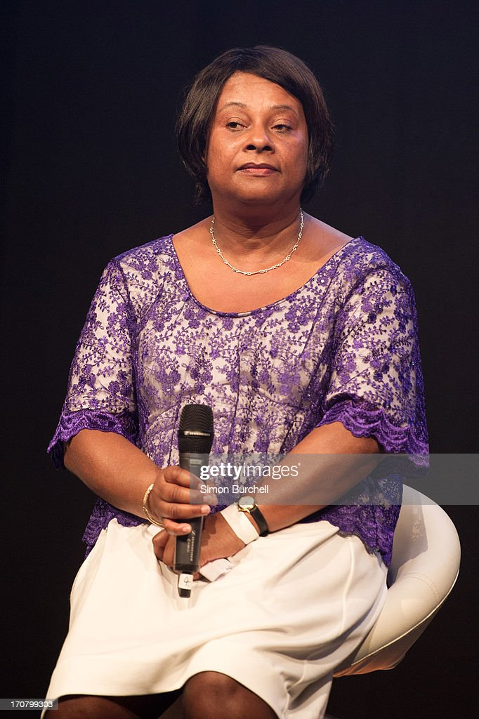 Doreen Lawrence attends a photocall to accounce 'Unity - A Concert for Stephen Lawrence' at Abbey Road Studios on June 18, 2013 in London, England.