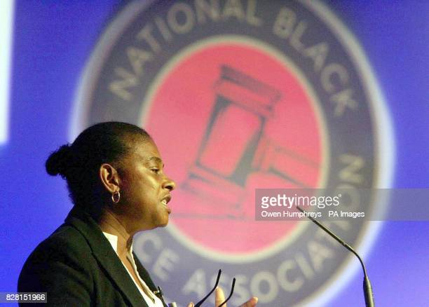 Doreen Lawrence the mother of murdered black teenager Stephen Lawrence speaks at the NBPA's annual conference at the Tall Trees Hotel in Yarm on...