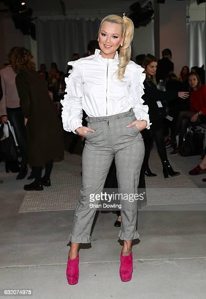 Doreen Steinert attends the Steinrohner show during the MercedesBenz Fashion Week Berlin A/W 2017 at Kaufhaus Jandorf on January 19 2017 in Berlin...