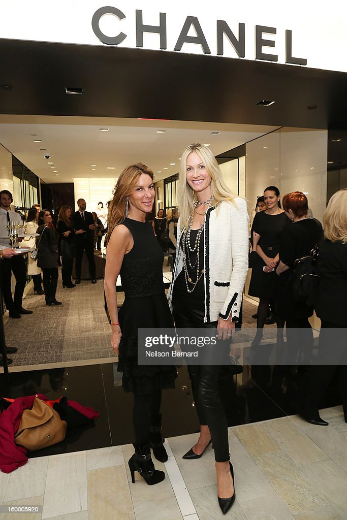 Dori Cooperman (L) and Christine Mack attend Bloomingdale's celebration of the newly renovated Chanel RTW Boutique at Bloomingdale's 59th Street Store on January 24, 2013 in New York City.