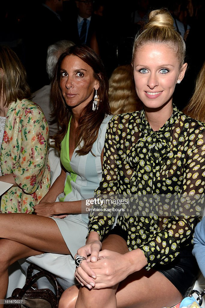 Dori Cooperman and Nikki Hilton attend the Diane Von Furstenberg Spring 2013 fashion show during Mercedes-Benz Fashion Week at The Theatre at Lincoln Center on September 9, 2012 in New York City.
