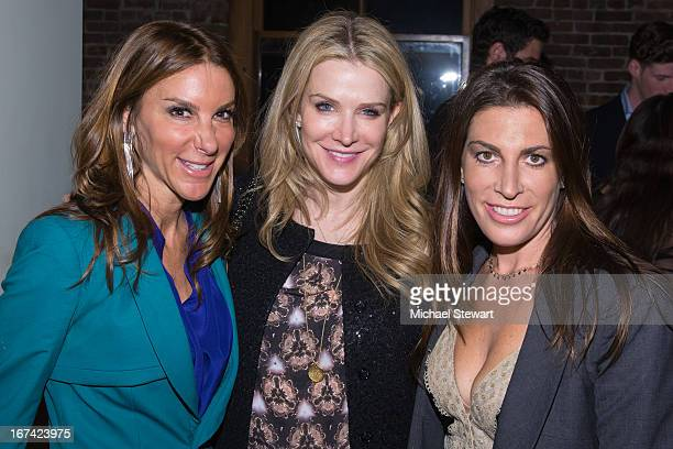 Dori Cooperman Debbie Peltz and Jessica Meisels attend Alvin Valley 'Belle De Jour' Intimate Dinner Party on April 24 2013 in New York City