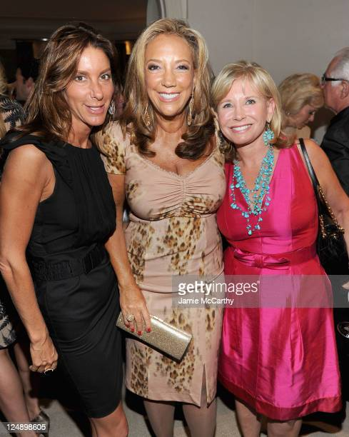 Dori Cooperman Denise Rich and Sharon Bush attend The Angel Ball Launch Party at Private Residence on September 13 2011 in New York City