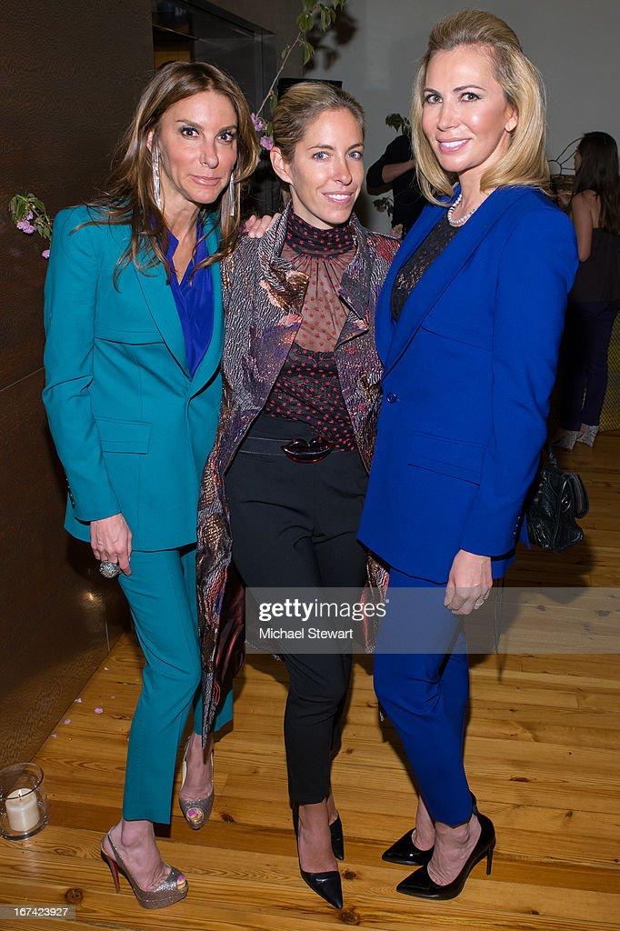 Dori Cooperman, Nicole Hanley Mellon and Inga Rubenstein attend Alvin Valley 'Belle De Jour' Intimate Dinner Party on April 24, 2013 in New York City.