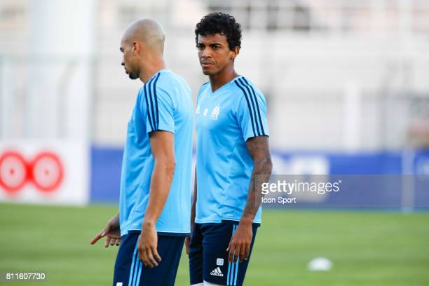 Doria and Luiz Gustavo of Marseille during the friendly match between Olympique de Marseille and Etoile Sportive du Sahel on July 9 2017 in Martigues...