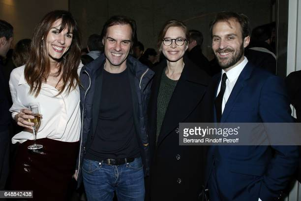 Doria Tillier Sebastien Thiery Pascale Arbillot and Antoine Gouy attend 'Monsieur Madame Andelman' Premiere Hosted By Fondation Barriere at Cinema...