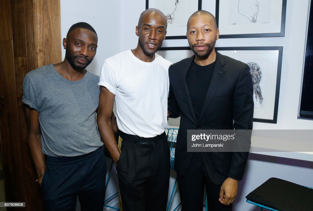 Dorian Braxton, Jae Joseph and Brandon Murphy attend StyleGlyde App launch at Tumblr HQ on August 22, 2017 in New York City.