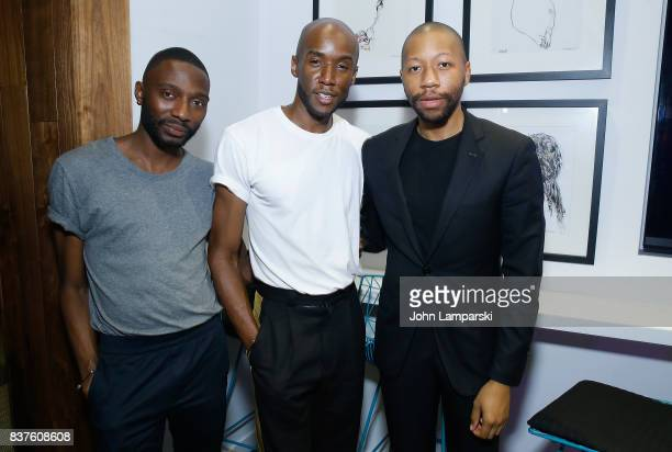 Dorian Braxton Jae Joseph and Brandon Murphy attend StyleGlyde App launch at Tumblr HQ on August 22 2017 in New York City
