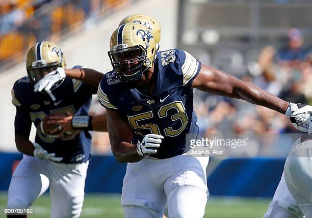 Dorian Johnson of the Pittsburgh Panthers in action during the game against the Villanova Wildcats on September 3 2016 at Heinz Field in Pittsburgh...