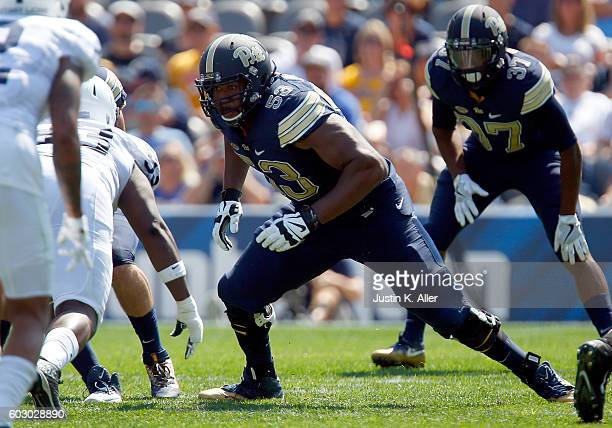 Dorian Johnson of the Pittsburgh Panthers in action during the game against the Penn State Nittany Lions on September 10 2016 at Heinz Field in...
