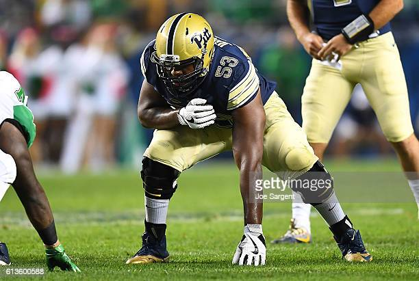 Dorian Johnson of the Pittsburgh Panthers in action during the game against the Marshall Thundering Herd at Heinz Field on October 1 2016 in...