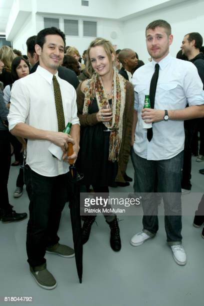 Dorian Stone Tawny Malmgren and Jeb Anzulewicz attend Charles Bank Gallery's Grand Opening Exhibition Featuring Kasper Sonne and AfterParty at the...