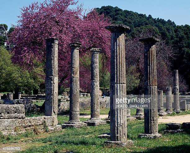 Doric colonnade of the palaestra Olympia Greece Greek civilisation 3rd century BC