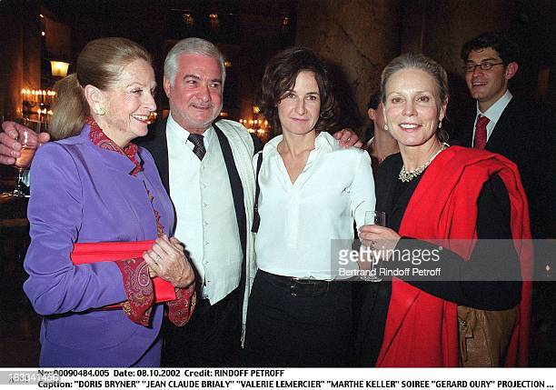 Doris Bryner 'Jean Claude Brialy' 'Valerie Lemercier' 'Marthe Keller' 'Gerard Oury' film screening of 'La Grande Vadrouille' at the Garnier opera