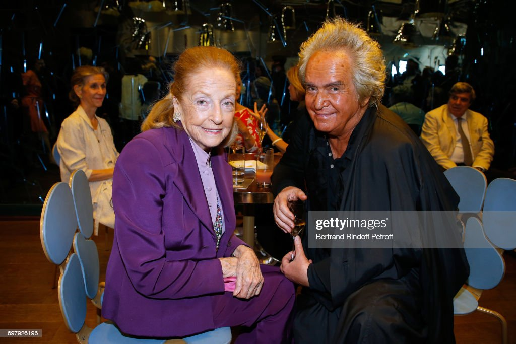 Doris Brynner and Producer Albert Koski attend the 'Societe ses Amis du Musee d'Orsay' : Dinner Party at Musee d'Orsay on June 19, 2017 in Paris, France.