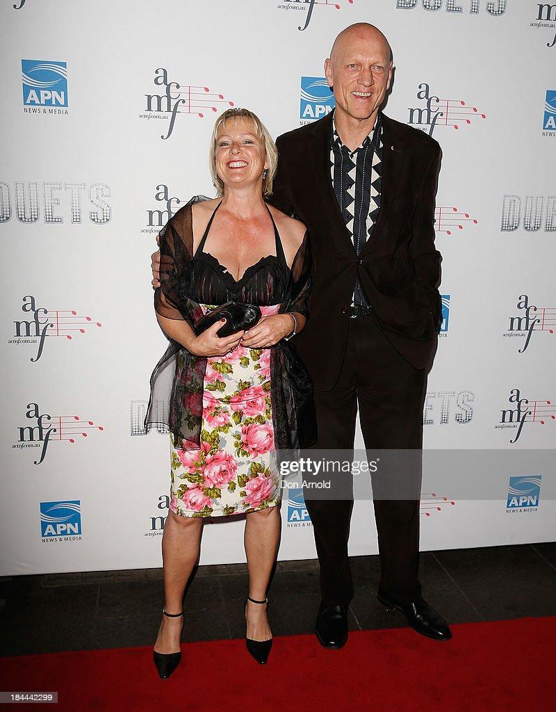 Doris Garrett and Peter Garrett pose at the 4th Annual Duets Gala concert at the Capitol Theatre on October 14, 2013 in Sydney, Australia.