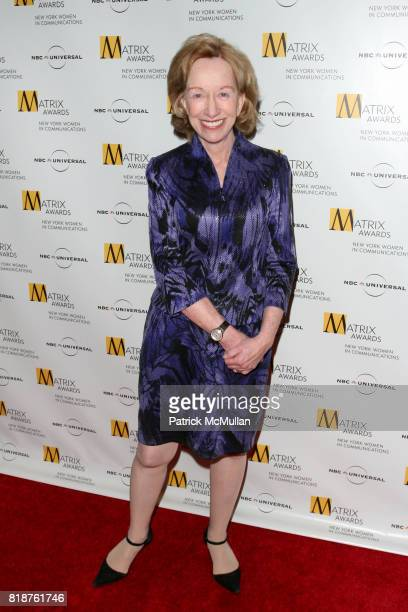 Doris Kearns Goodwin attends New York WOMEN IN COMMUNICATIONS Presents The 2010 MATRIX AWARDS at Waldorf Astoria on April 19 2010 in New York City