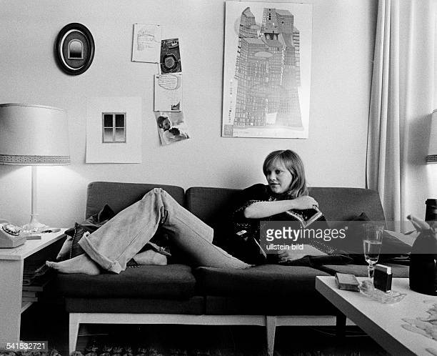 Doris Kunstmann * actress Germany relaxing at home 1973