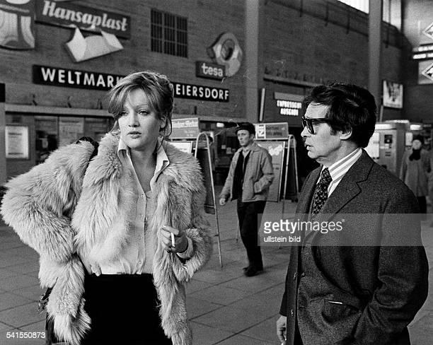 Doris Kunstmann * actress Germany with actor Peter Mosbacher acting for the TV production 'Ein Abend eine Nacht ein Morgen' 1973