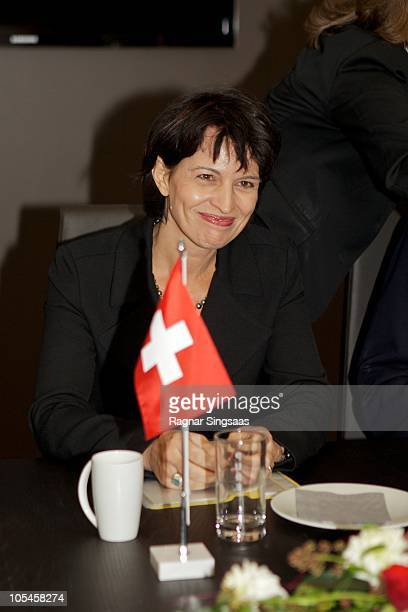 Doris Leuthard visits the Norwegian minister of Trade and Industry on the President of the Swiss Confederation Her Excellency Ms Doris Leuthard and...