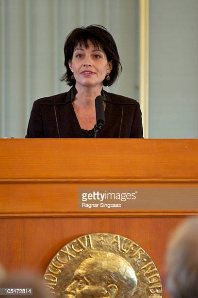 Doris Leuthard visits the Norwegian Nobel Institute upon Her Excellency Ms Doris Leuthard and Dr Roland Hausin State visit to Norway on October 15...