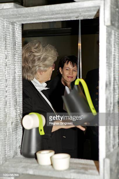 Doris Leuthard visits the Swiss Design Exhibition at 'The Norwegian Centre for Design and Architecture' on Her Excellency Ms Doris Leuthard and Dr...