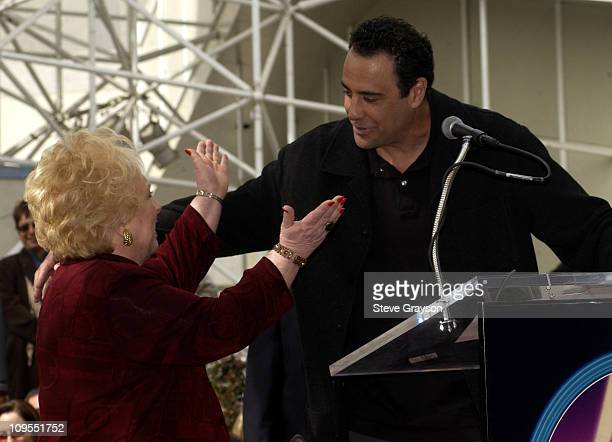 Doris Roberts and Brad Garrett during Doris Roberts Honored with a Star on the Hollywood Walk of Fame for Her Achievements in Live Theatre at The...
