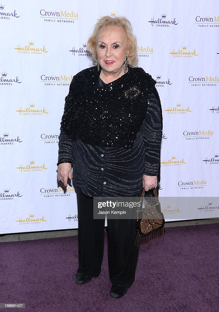 <a gi-track='captionPersonalityLinkClicked' href=/galleries/search?phrase=Doris+Roberts&family=editorial&specificpeople=209247 ng-click='$event.stopPropagation()'>Doris Roberts</a> attends the Hallmark Channel and Hallmark Movie Channel's '2013 Winter TCA' Press Gala at The Huntington Library and Gardens on January 4, 2013 in San Marino, California.