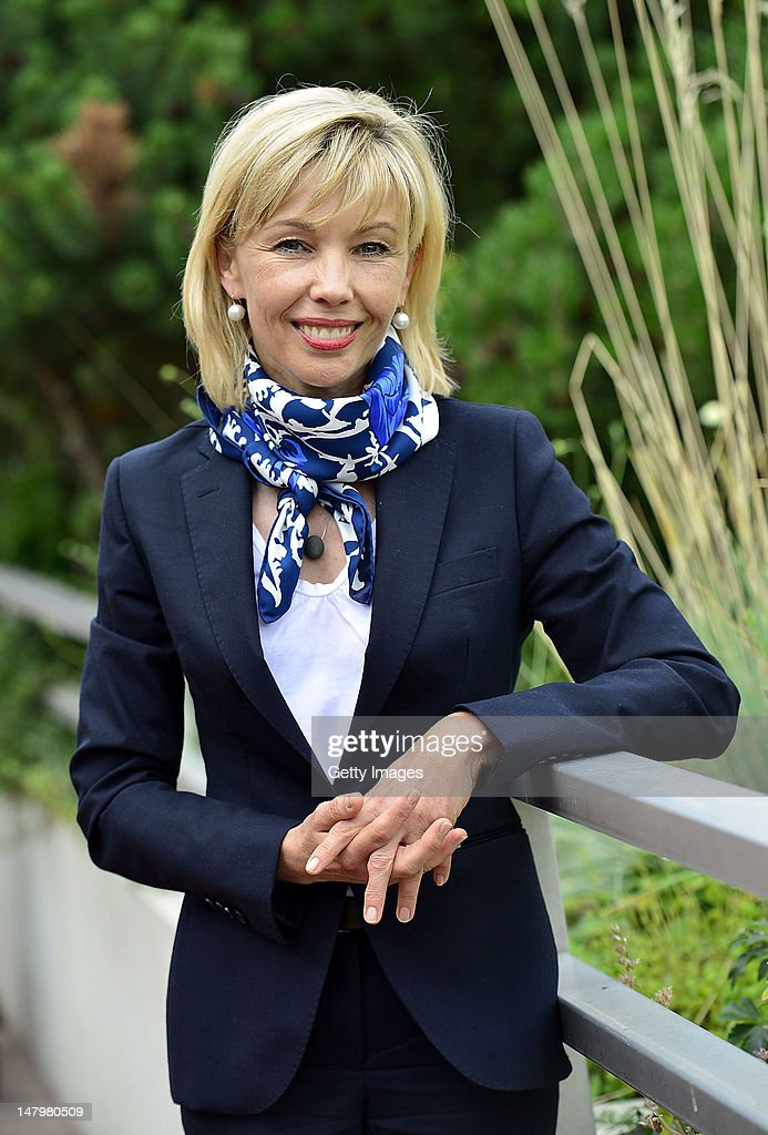 Doris Schroeder-Koepf, wife of former German Chancellor Gerhard Schroeder, poses during a meeting of Lower-Saxony's Social Democratic Party (SPD) on July 7, 2012 in Hameln, Germany. Schroeder-Koepf is on the list of candidates for the 2013 elections of the states parliament.