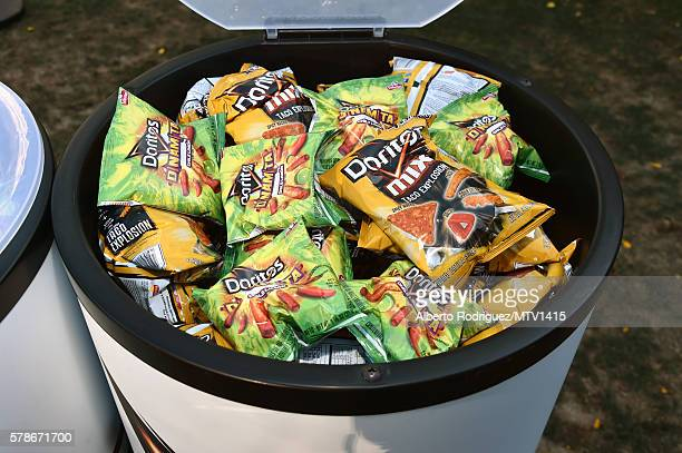 Doritos are displayed at the MTV Fandom Awards San Diego at PETCO Park on July 21 2016 in San Diego California