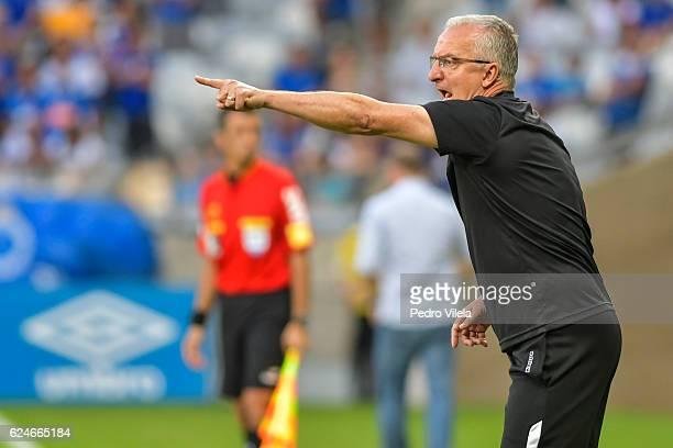 Dorival Junior coach of Santos a match between Cruzeiro and Santos as part of Brasileirao Series A 2016 at Mineirao stadium on November 20 2016 in...