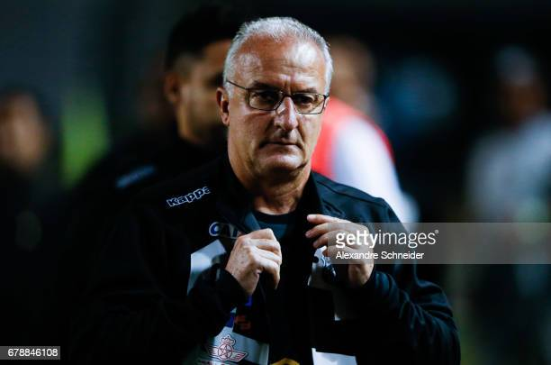 Dorival Junior head coach of Santos in action during the match between Santos of Brazil and Santa Fe of Colombia for the Copa Bridgestone...