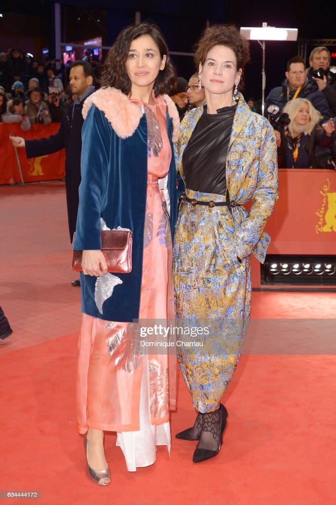 Dorka Gryllus and Bibiana Beglau attend the 'Django' premiere during the 67th Berlinale International Film Festival Berlin at Berlinale Palace on February 9, 2017 in Berlin, Germany.