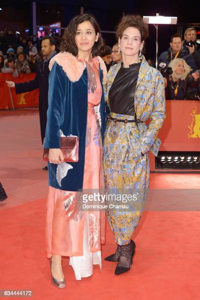 Dorka Gryllus and Bibiana Beglau attend the 'Django' premiere during the 67th Berlinale International Film Festival Berlin at Berlinale Palace on...