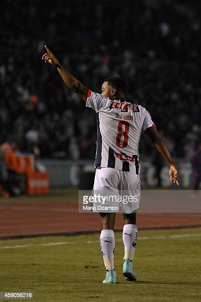 Dorlan Pabon of Monterrey celebrates after scoring the opening goal during a match between Monterrey and Chivas as part of 8th round Apertura 2014...