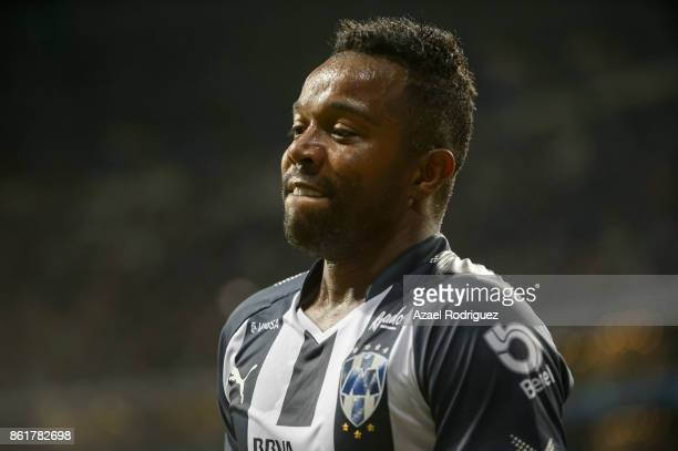 Dorlan Pabon of Monterrey looks on during the 13th round match between Monterrey and Pachuca as part of the Torneo Apertura 2017 Liga MX at BBVA...