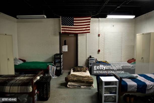 A dorm room for clients recovering from drug addiction is seen at Recovery Point on April 19 2017 in Huntington West Virginia Huntington the city in...