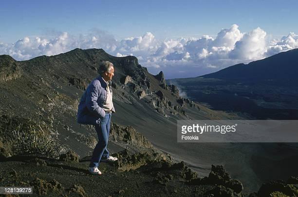Dormant volcano at sunrise, Mount Haleakala, Island Of Maui, Hawaii