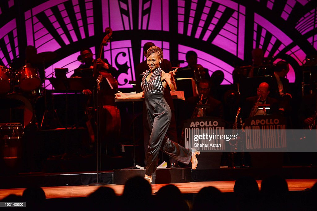 Dormeshia performs during Apollo Club Harlem at The Apollo Theater on February 18, 2013 in New York City.