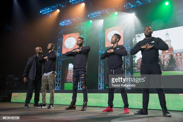 Dormtainment preform at the #Youtube Black Fest at Crampton Auditorium at Howard University on October 17 2017 in Washington DC