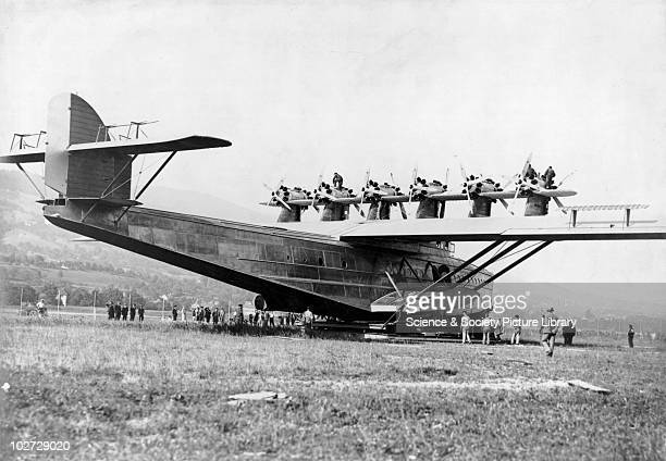 Dornier DOX flying boat 1929 Dornier DOX flying boat 1929 On its launching cradle at Altenrhein