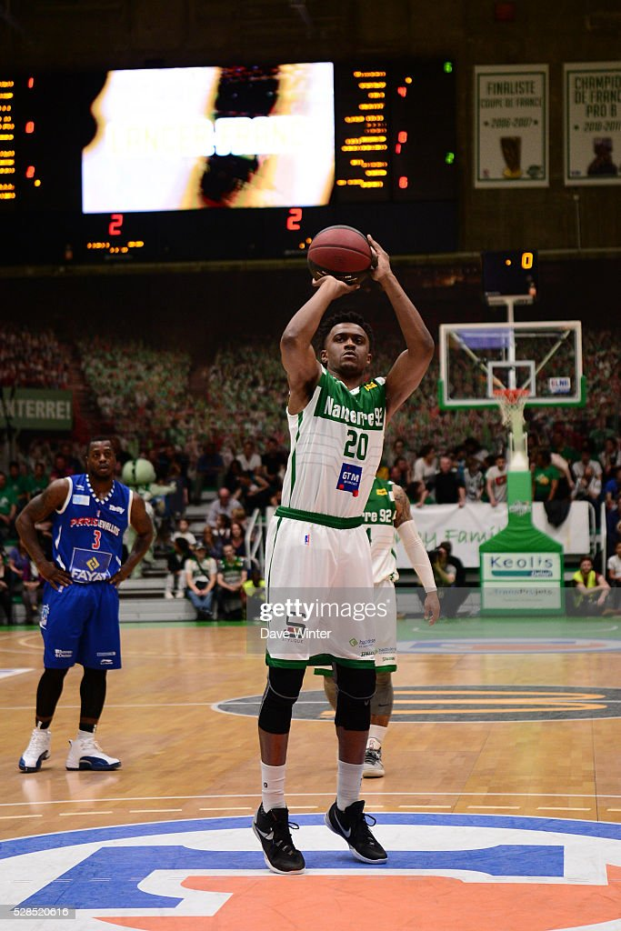 Doron Lamb of Nanterre during the basketball French Pro A League match between Nanterre and Paris Levallois on May 5, 2016 in Nanterre, France.
