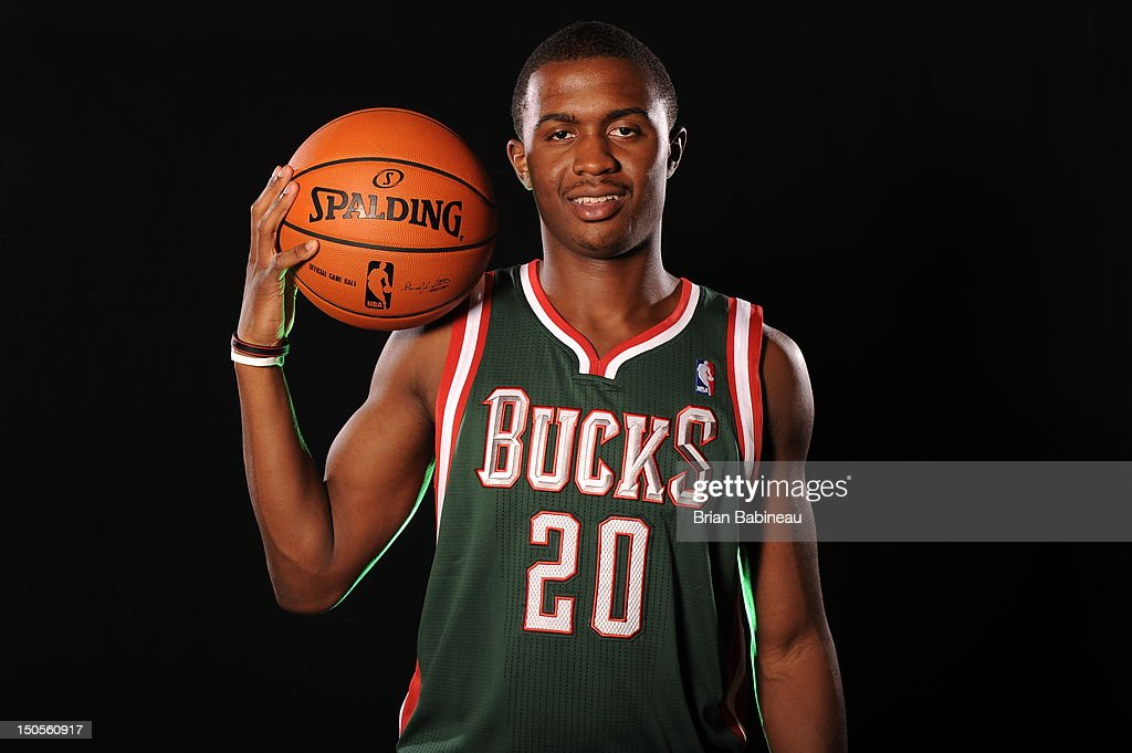 Doron Lamb of the Milwaukee Bucks poses for a portrait during the 2012 NBA rookie photo shoot on August 21, 2012 at the MSG Training Facility in Tarrytown, New York.