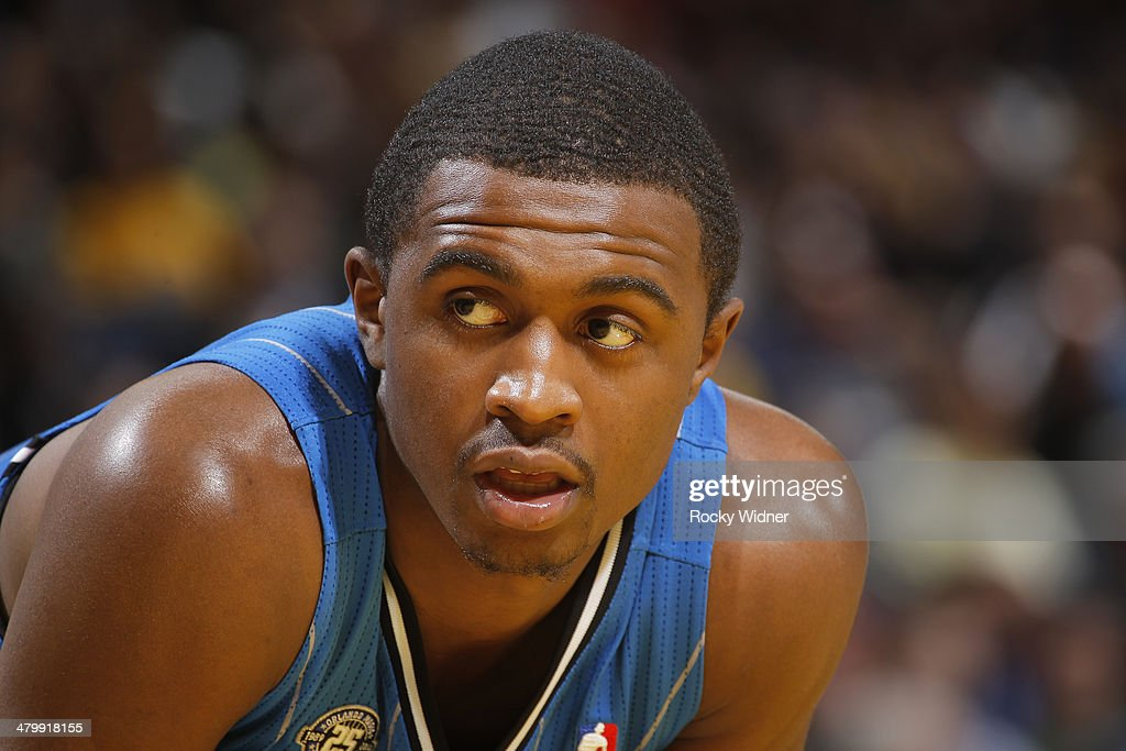 <a gi-track='captionPersonalityLinkClicked' href=/galleries/search?phrase=Doron+Lamb&family=editorial&specificpeople=7143029 ng-click='$event.stopPropagation()'>Doron Lamb</a> #1 of the Orlando Magic while he faces the Golden State Warriors on March 18, 2014 at Oracle Arena in Oakland, California.