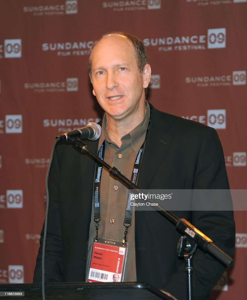 Doron Webber of the Alfred P Sloan Foundation speaks at the Alfred P Sloan Foundation Reception during the 2009 Sundance Film Festival at Sundance...