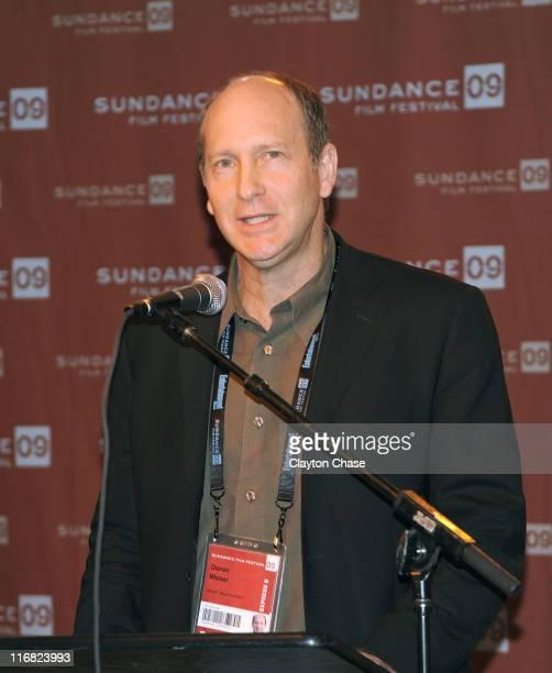 Doron Webber of the Alfred P Sloan Foundation speaks at the Alfred P Sloan Foundation Reception during the 2009 Sundance Film Festival at Sundance...