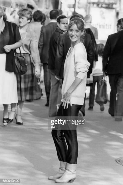 Dorothée au milieu de la foule le 13 avril 1981 France