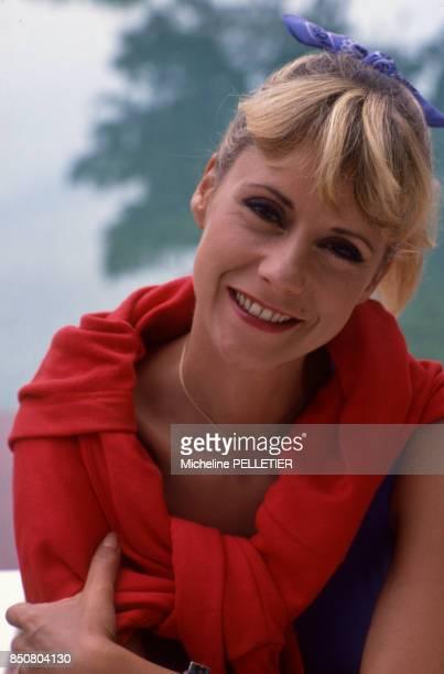 Dorothée en vacances le 17 juin 1988 à La Baule France